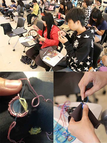 Yunlin University Workshop- India Mirror Embroidery