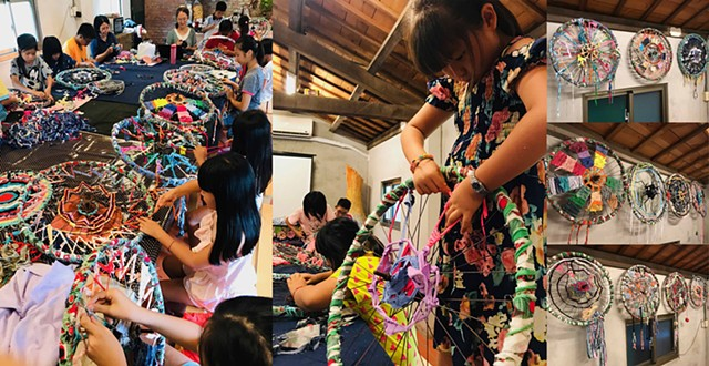 2019 ChangLong Environmental Art Project weaving workshop