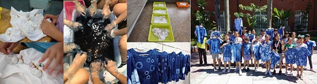 2019 MOCA Summer Workshop Indigo dye