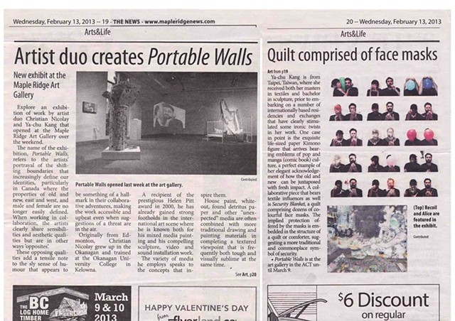 Maple Ridge News, Art&Life, 13 Feb 2013, p19-20, Canada