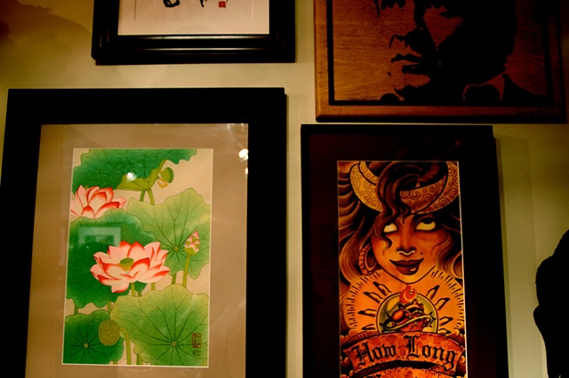Art from around the world inside Highland Ink