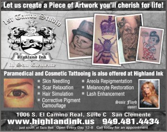 Advert for paramedical tattoo work