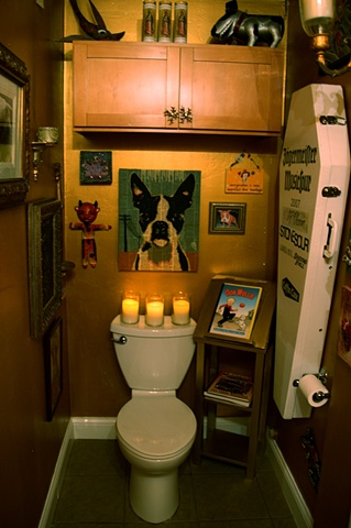 The most pimped out room in Highland Ink! Some guest artists have said its the most beautiful tattoo shop loo they have ever seen!!!!
