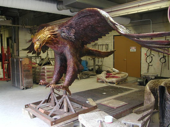Eagle after patina #3