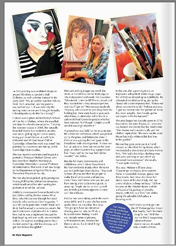 The third page of my interview in Style Magazine, June 2012.