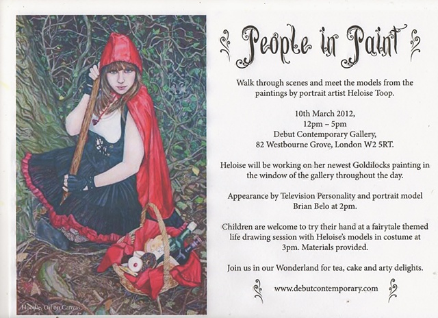 The exhibition invitation for my solo show in Notting Hill.