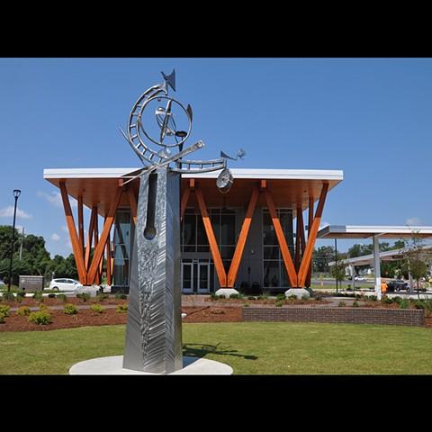 G.K. Butterfield Transportation Center Greenville, NC Sculpture