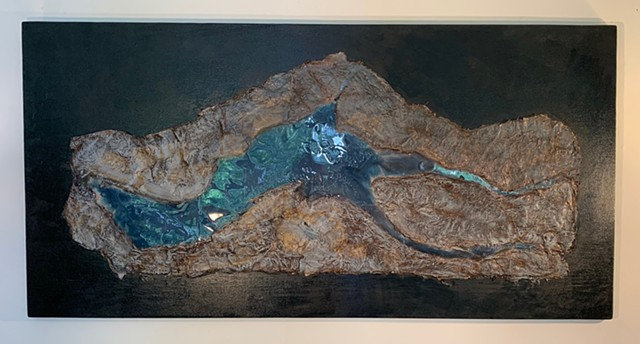 Kluane Lake - resin cast