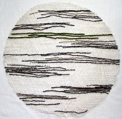 Orb of threads and lengths of yarn