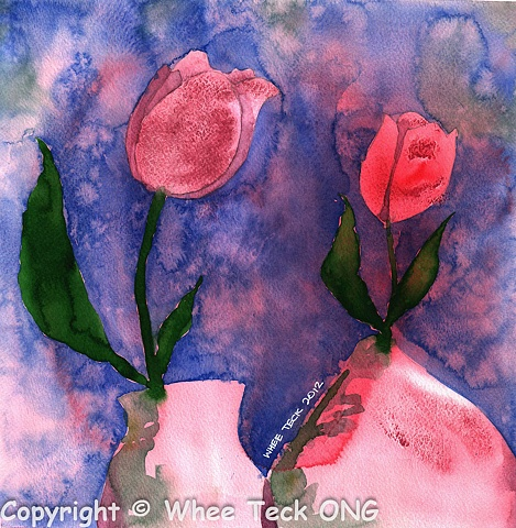 Whee Teck, Watercolor, Watercolour, Bright, Intense, Colors, Colours, Drib Drab.