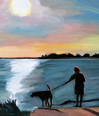 Dog-walking Sunset