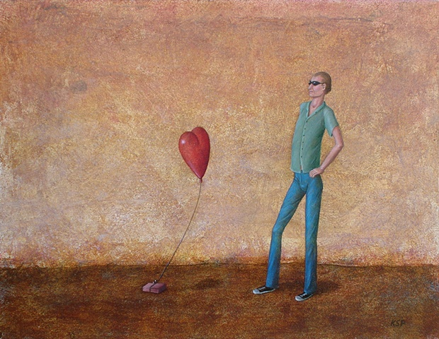 oil painting on panel of surreal, magic realism by female artist Karen S. Purdy