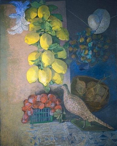 Hanging Lemons, Dove, White Hat HL10