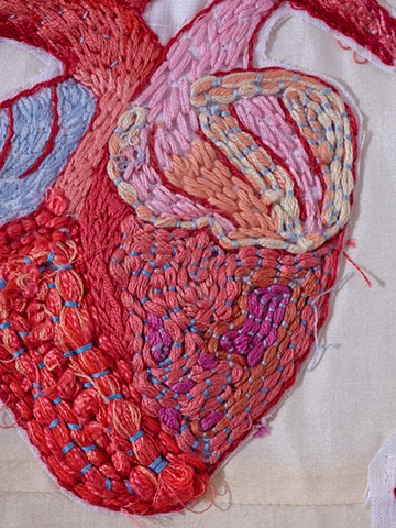 """Devoted Body"" detail,  exhibited at ""Open House: 3rd Tamworth Textile Triennial"""