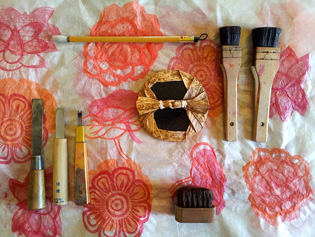 Woodblock printing tools