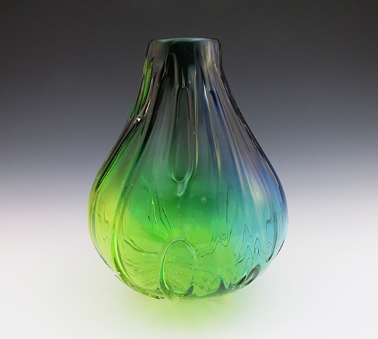 Blue Green Fade Vessel