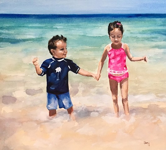 water color, art prints, portraits, kids art, beach