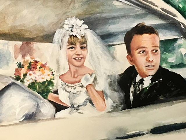 commissions, painting, wedding portraits