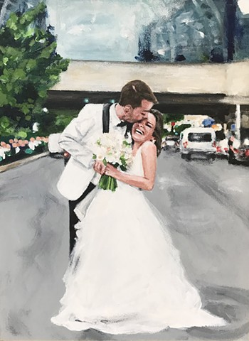 wedding, portraits, commission, paintings