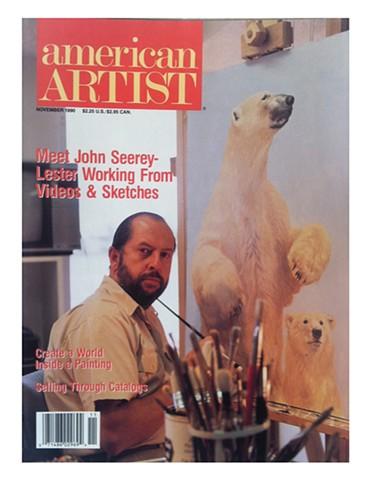 American Artist cover  John Seerey Lester