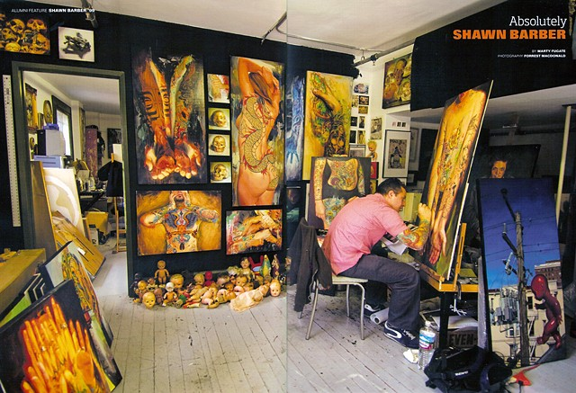 Barber in Studio spread