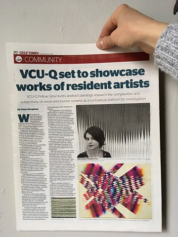 "Gulf Times feature on ""Liquid Crystal + Polymer"" at Virginia Commonwealth University / Doha, Qatar"