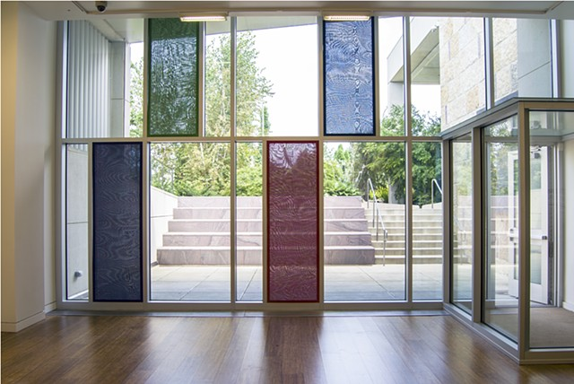 RGBA Windows (v3) (installed at Cleve Carney Art Gallery at College of DuPage, Glen Ellyn, Illinois USA