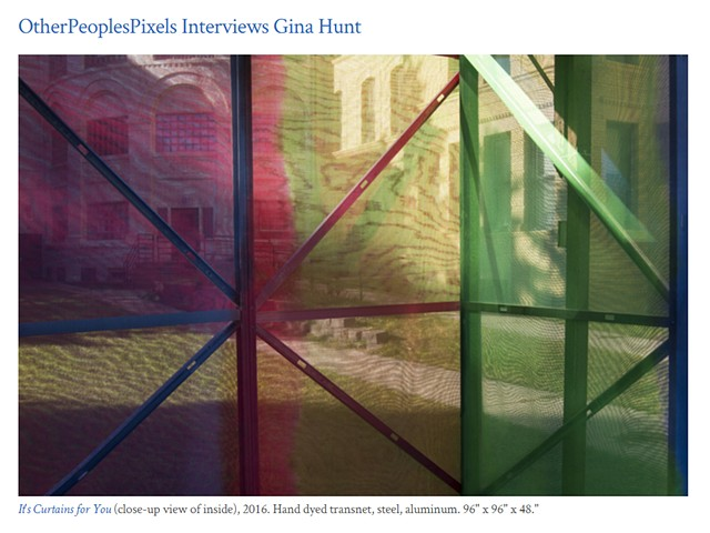 OtherPeoplesPixels Interviews Gina Hunt