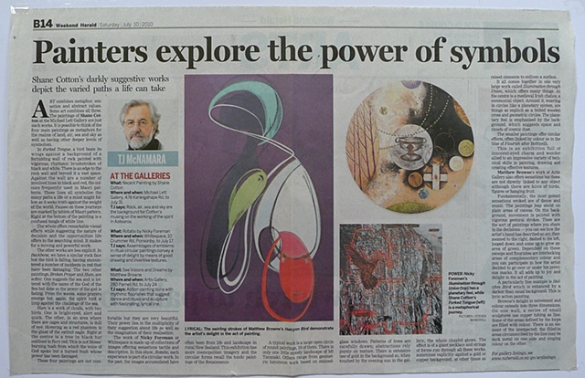 'Painters Explore the Power of Symbols'   TJ McNamara - The New Zealand Herald Arts - Review of 'See Visions and Dream Dreams' - Artis Gallery -10/07/2010 ______________________________