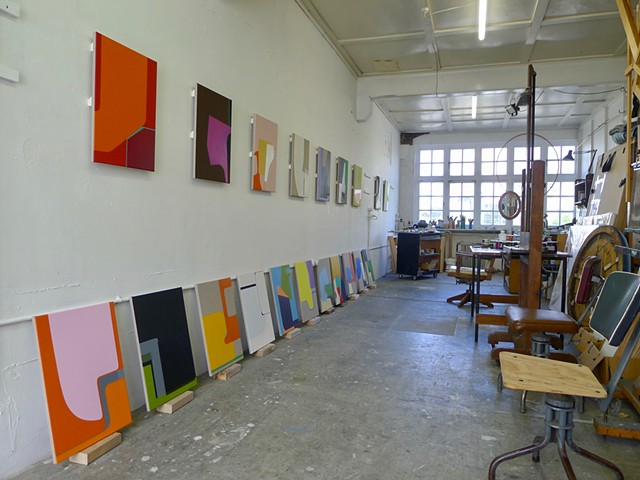 Studio - Sonder paintings ready to go
