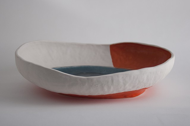 Large Oval Bowl, Pinched