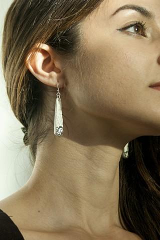 Porcelain Earrings, Platinum