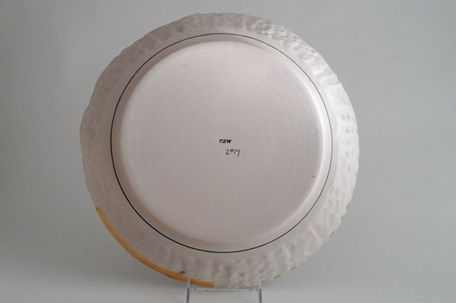Large Round Tray, back
