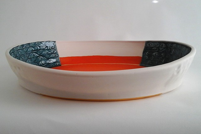 Large Oval Thrown Tray
