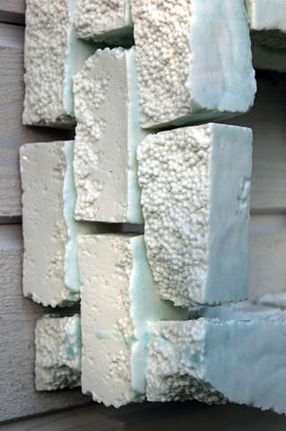 Slip-cast porcelain, glaze, kiln-fused. Cone 10 reduction.