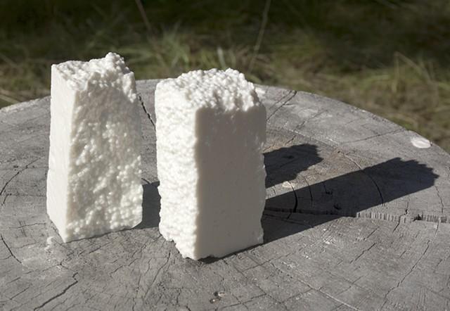 Slip-cast porcelain. Cone 10 reduction.