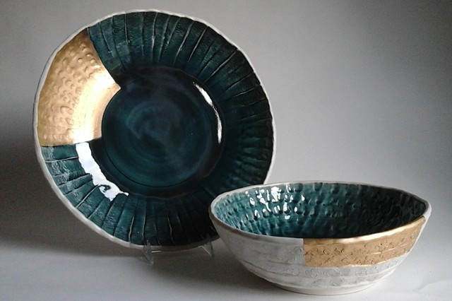 Large Round Tray and Medium Bowl Set