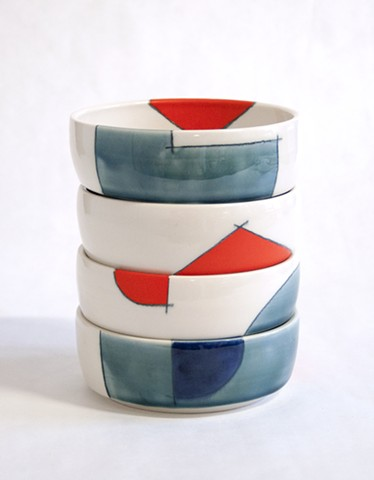 "Stacking Bowls, 6"" dia."