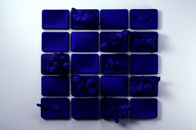 Klein Blue Collage, alt. view