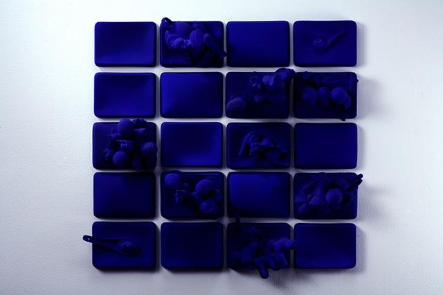 Klein Blue Collage, alt. view