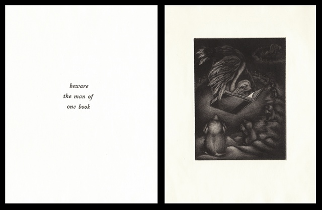 "plate twelve:  ""beware the man of one book""  2006"