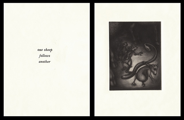 "plate four:  ""one sheep follows another""  2006"