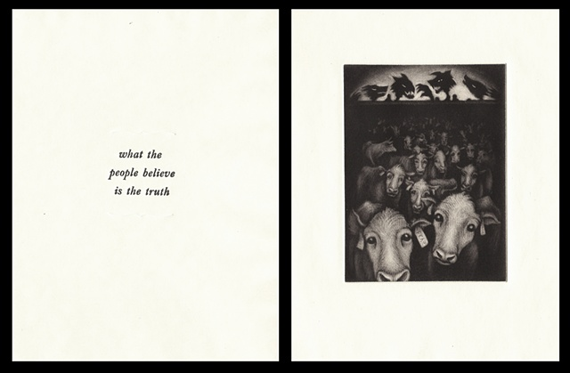 "plate nine:  ""what the people believe is the truth""  2006"