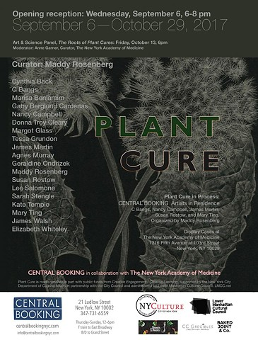 PLANT CURE at CENTRAL BOOKING IN COLLABORATION WITH  THE NEW YORK ACADEMY OF  MEDECINE