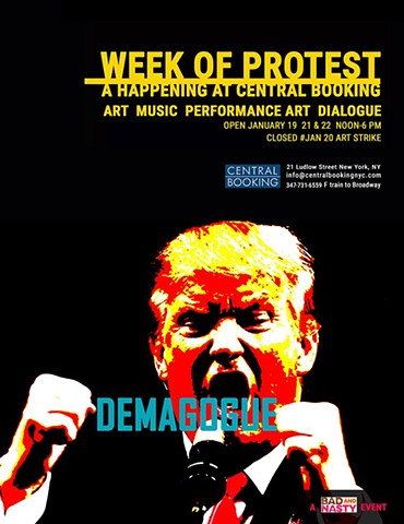 "CENTRAL BOOKING GALLERY ""week of protest"""