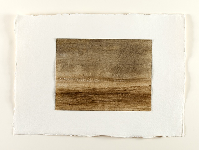 shore line, beeswax, mud, earth pigment