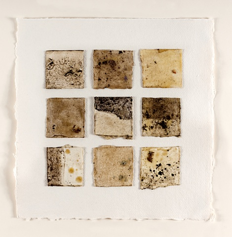 Dartmoor peat and beeswax on paper