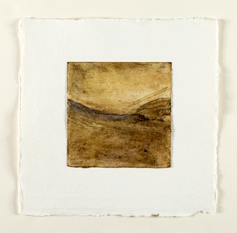 Peat and local beeswax on paper