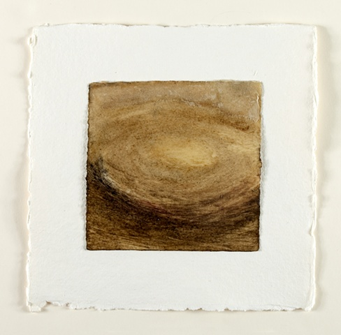 Peat, earth, charcoal and beeswax, mulberry paper