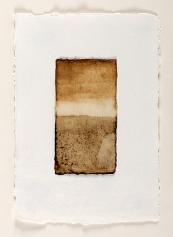 raw beeswax, river mud on mulberry paper